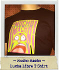 Mucho Macho Mexican Lucha Libre Wrestling adult t-shirt navy