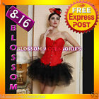 1335 Burlesque Moulin Rouge Red Corset Tutu Costume
