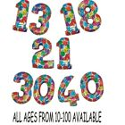 "41"" PARTY SUPERSHAPE FOIL BALLOON- ANY AGE AVAILABLE"