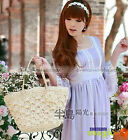 Women Sweet Knit Flower Straw Tote Shoulder Bag New 484
