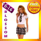 E35 Sexy School Girl Uniform Fancy Dress Costume Outfit