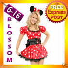 887 Ladies Minnie Mickey Mouse Fancy Dress Up Costume
