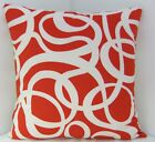 RED CUSHION COVERS VALENTINES TRENDY IKEA BOLD RED WHITE FABRIC HANDMADE