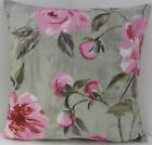 SHABBY CHIC-STYLE LARGE PINK ROSE FLORAL CUSHION COVERS