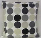 RETRO SLATE GREY STEEL SPOTS 60'S DESIGN CUSHION COVERS