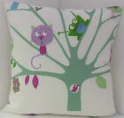 CUSHION COVERS KIDS CHILDRENS LEARNING BIRD FROG PASTEL PLAY SCHOOL ROOM