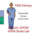 2 x Scrub Suit Nurses Doctors Uniform ER Scrubs SPECIAL OFFER! Scrub Suit Sets