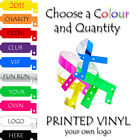 PRINTED Vinyl ID Wristbands Security Bands FREE P&P Various QTY