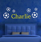 Your Name Personalised Wall Art Stickers Kids Football, 2 colours,