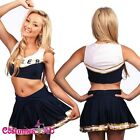 New Blue Girls Cheerleader Uniform Costume Full Outfits Fancy Dress S M L XL 2XL