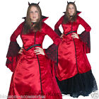 E81 Medieval Devil Dracula Vampire Renaissance Dress Gown Halloween Costume