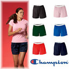 Champion Womens Size S-2XL Roll down Tagless Mesh Gym Shorts Ladies Dri fit CA33