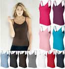 Bella Ladies S M L XL 2XL Spandex Camisole Yoga Tank Top Shelf Bra Womens 960
