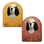 English Setter Wood Carved Dog Key Leash Holder. Home Decor Dog Products & Gifts