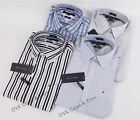 NEW TOMMY HILFIGER MEN'S CUSTOM FIT LONG SLEEVE STRIPE PLAID DRESS CASUAL SHIRT