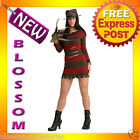 C362 Ladies Ms. Krueger Naughty Nightmare Adult Halloween Fancy Dress Costume