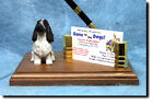 English Cocker Spaniel Dog Card Holder or Desk Set. Home Decor Dog Products.