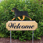Rottweiler Dog Figure Welcome Sign Stake.Home Yard & Garden Dog Products & Gifts