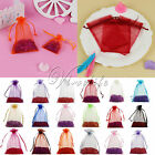 "100pcs 4"" x 6"" Sheer Organza Wedding Christmas Favor Gift Bag Pouch 10cm x 15cm"