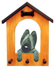Adult Briard Dog House Leash Holder. In Home Wall Decor Products & Dog Gifts.