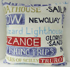 NAUTICAL THEMED SEA SIDE CUSHION COVERS YACHT CLUB ST IVES NEWQUAY LIGHTHOUSE