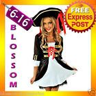 E18 Ladies Wench Caribbean Pirate Fancy Dress Up Party Halloween Costume
