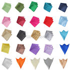 "12"" Square Satin Napkin or Pocket Handkerchief Multi Purpose Wedding Party Decor"