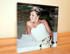 """YOUR PHOTO ON 25MM/1"""" thick ACRYLIC POLISHED DESK pixi BLOCK high gloss all size"""