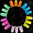 Colorful Translucent Clear Acrylic False French Tips Nail Art 100pcs x 6 Colors