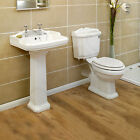 4 piece White Traditional Edwardian Victorian Bathroom Suite + Tap