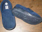 BLUE CORDUROY SLIPON SLIPPERS Boys Infant and Toddler Sizes 2 to 10 NEW