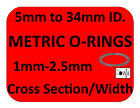 Metric Oring Rubber Orings Sizes Paintball O-rings 1mm 1.5mm 2mm 2.5mm CS