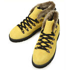 New Leather Winter Snow Casual Athletic Warm Mens Ankle Boots Yellow