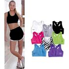 NEW Ladies Size S-XL Cotton Spandex Womens Yoga Run Jog Volleyball Sports Bra