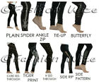 Ladies Women Plain Butterfly Tiger Print Spider Lace Stud See-Through Legging