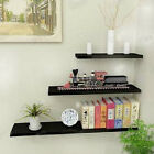 One Black High Gloss Floating Wall Mounted Shelf size have 40,50,60,70,80,90cm