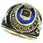 Air Force Seal US Military Gold EP Mens Ring