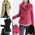 Winter Warm Single-Breasted Hip Length Noble Short Wool Blends Pea Coat W102