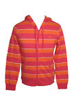 Adidas womens pink/orange full zip hooded jacket (hoody) long sleeve fitness top