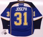 CURTIS JOSEPH ST LOUIS BLUES REEBOK PREMIER JERSEY NEW WITH TAGS