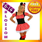 F56 Ladies Minnie Mini Mickey Mouse Disney Fancy Dress Party Costume & Ears