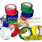 COLOURED LOW NOISE PACKING TAPE 50mm x 66M ALL COLOURS