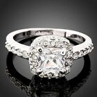 Swarovski clear Crystal white gold GP Engagement Ring