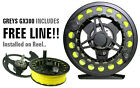 GREYS GX300 6/7/8 FLY REEL, TROUT FISHING *FREE LINE FITTED*