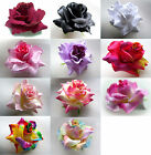 "2X BIG Roses Artificial Silk Flower Heads Lot 3.75"" for Make Hair clips Wedding"
