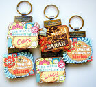 """WORLD ACCORDING TO"" PERSONALISED KEYRING BOOKS - NAMES B - C"