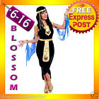 E15 Ladies Cleopatra Egyptian Goddess Fancy Dress Halloween Costume & Headband