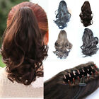 Fashion Woman's Curly Wave Ponytail Claw Clip in /on Hair Extension Wigs KP42-3