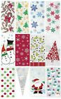 20 Christmas Cellophane Cello Bags for Sweets/Gifts/Presents- Choice of Patterns