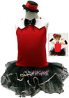 Red Jazz Dance Girls Costume Dress Ballet Leotard Tutu + Arm Mitts + Hat Age 1-9